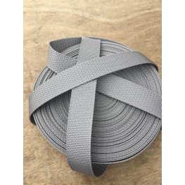 Sangle nylon 3cm gris argenté